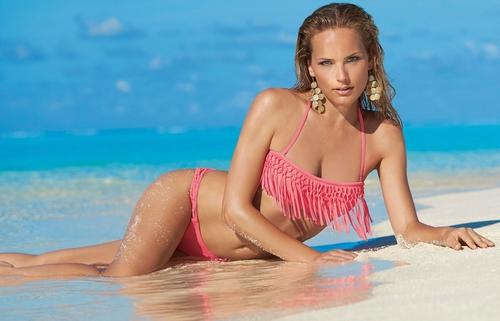Bandeau bikini olympia met franjes 31039