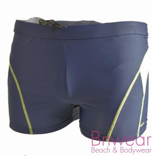 manouxx heren zwemshort in zwart en blauw 42788