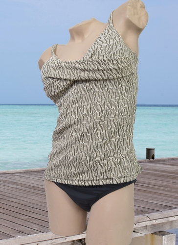 Manouxx tankini in Gold design en zwart