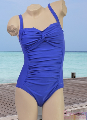Manouxx badpak  in royal blue en coral 21405