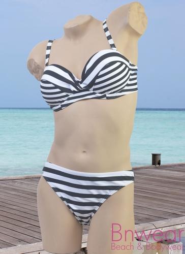 Manouxx marine print bandeau bikini