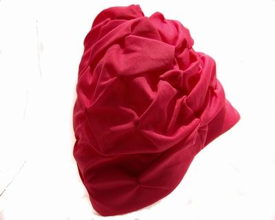 Badmuts van Beco in roze stoffen motief
