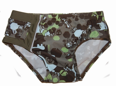 Zwemslip Beco in groene print