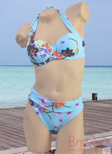 Multistyle bikini manouxx in blue flower
