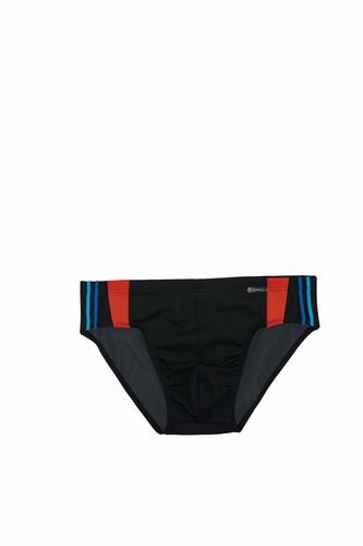 Heren zwemslip van Olympia in zwart met rood