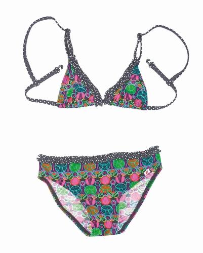 Meisjes bikini van  Olympia met roze bloem print