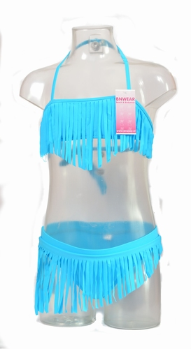 Fringe bikini for the girls maat 128-164