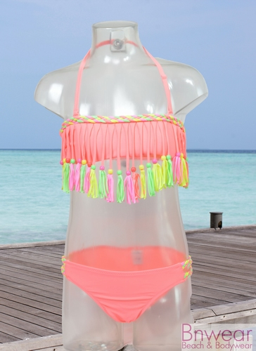 Fringe bikini met kraaltjes voor meisjes