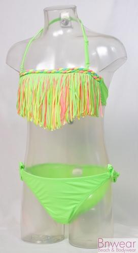 Franje bikini in felle neon kleuren Fringe