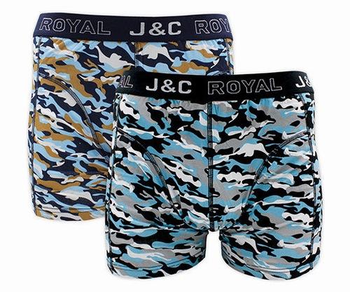 Heren Boxer set van Jenc in camouflage print.