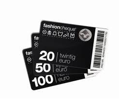 Fashion cheque kadobon van 20 50 en 100 euro
