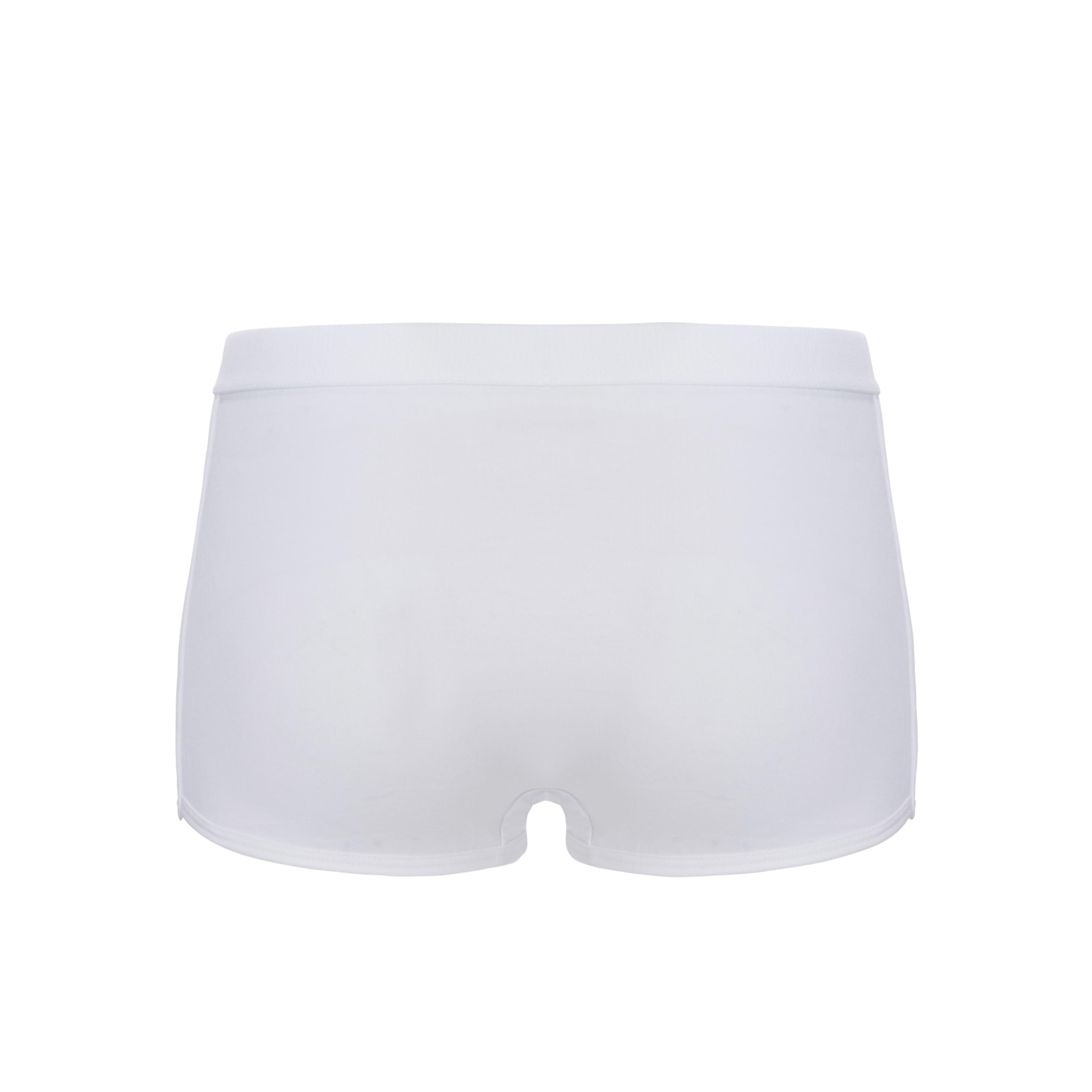 Ten cate basic short in 2-pack wit, zwart, aqua