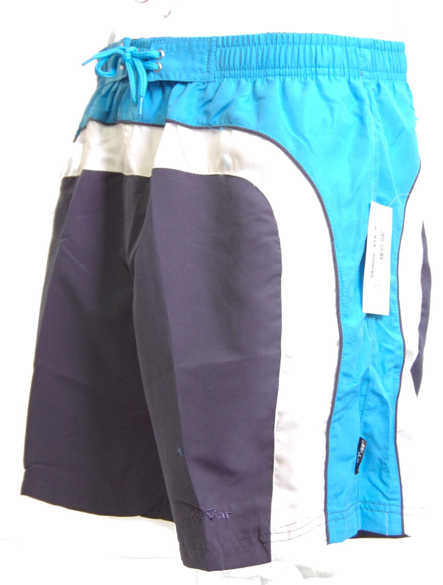 Zwemshort Elemar in blauw t/m 6XL